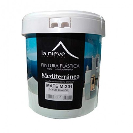 Pintura plástica extramate blanca M-201 14L